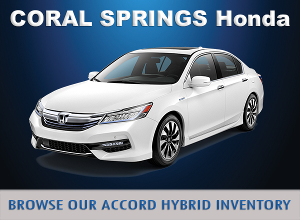 New 2017 accord hybrid coral springs honda near fort for Honda coral springs