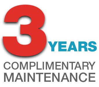 3 Years Complimentary Maintenance